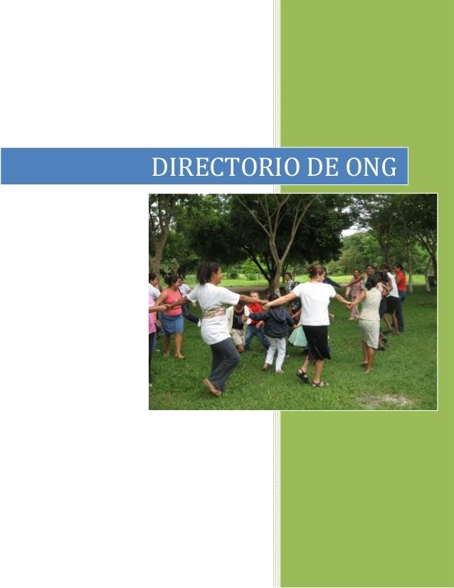 DIRECTORIO DE ONG