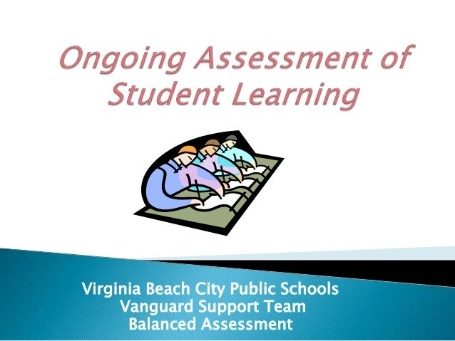 Ongoing assessment of student learning final 29 october 2010