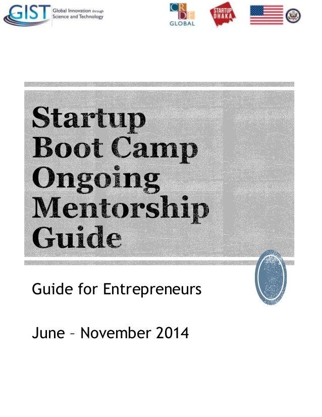 Ongoing mentorship guide - entrepreneur edition