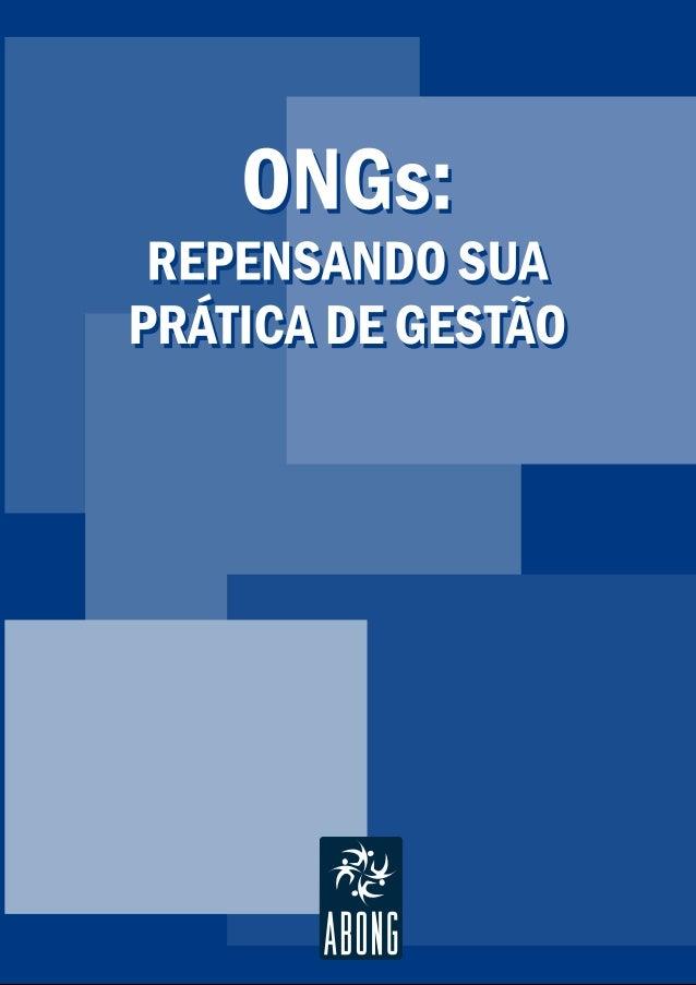 ONGs: repensando sua prática de gestão