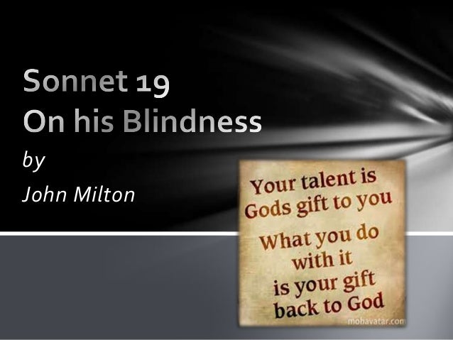 On His Blindness Questions and Answers