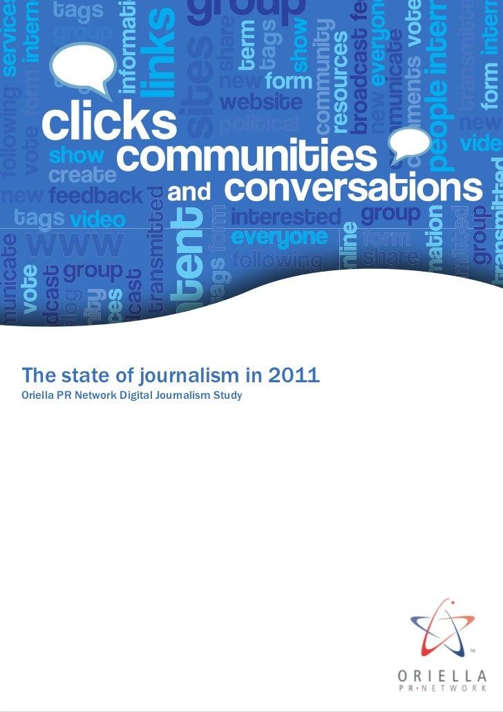 The state of journalism in 2011Oriella PR Network Digital Journalism Study