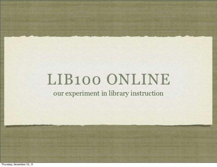 LIB100 Online