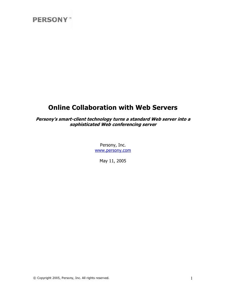 Online Collaboration with Web Servers