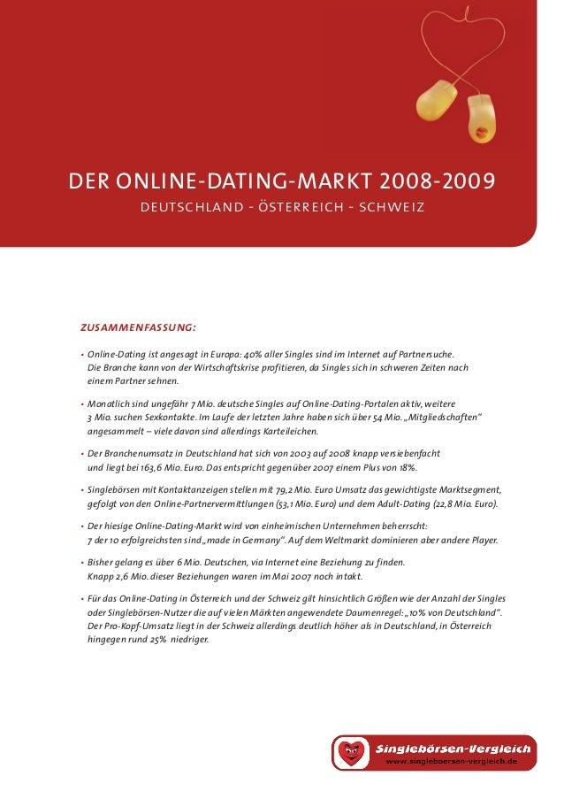 der online-dating-MARKT 2008-2009deutschland - österreich - schweiz•Online-Dating ist angesagt in Europa: 40% aller Singl...
