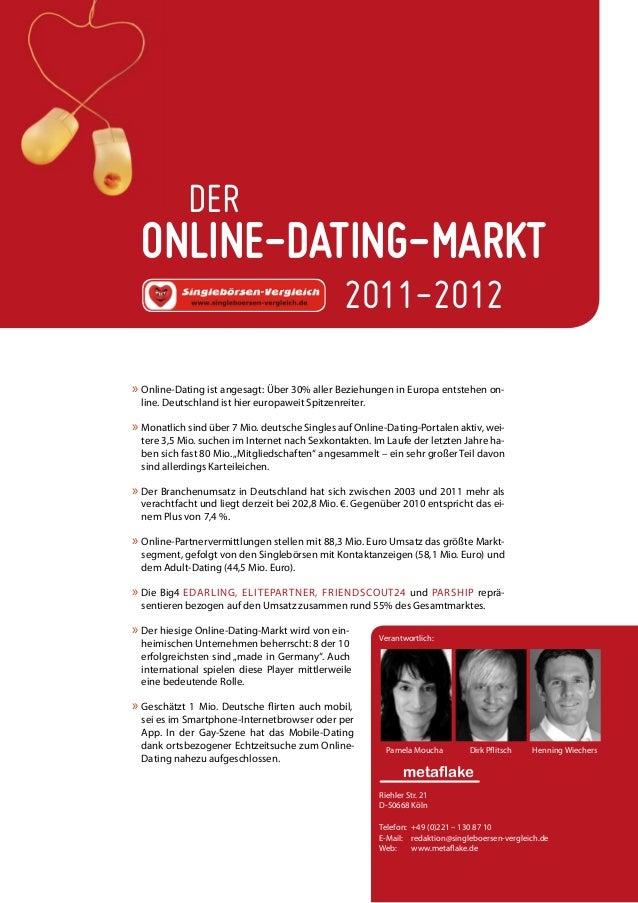 ONLINE-DATING-MARKTDER2011-2012»» Online-Dating ist angesagt: Über 30% aller Beziehungen in Europa entstehen on-line. Deut...