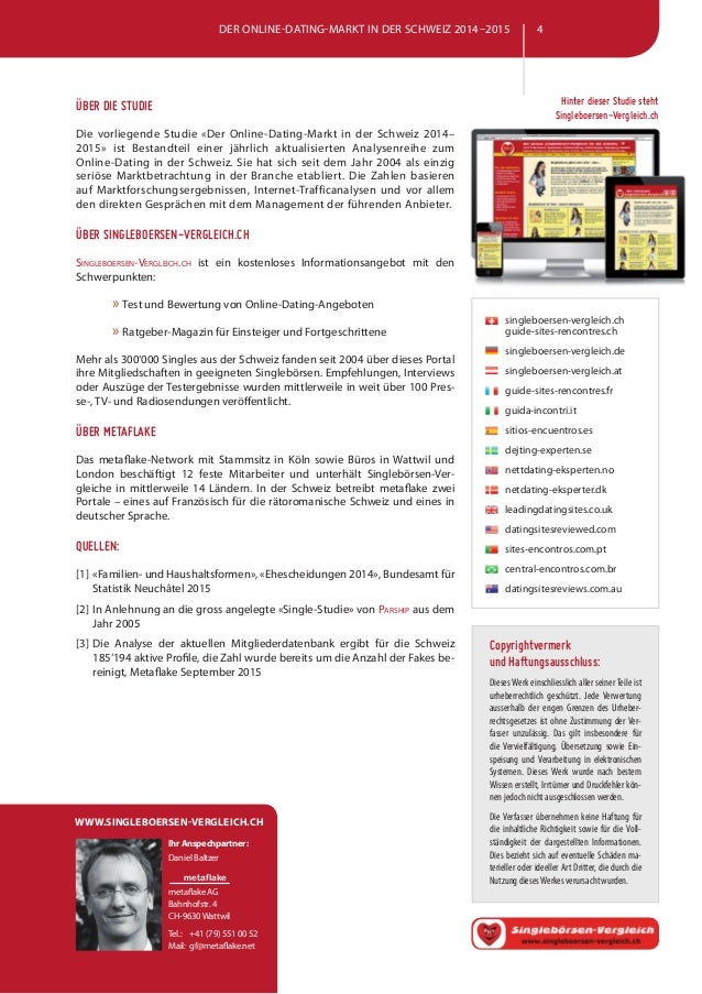 Vergleich dating portale schweiz