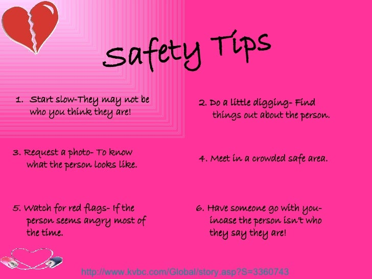 tips for online dating safety