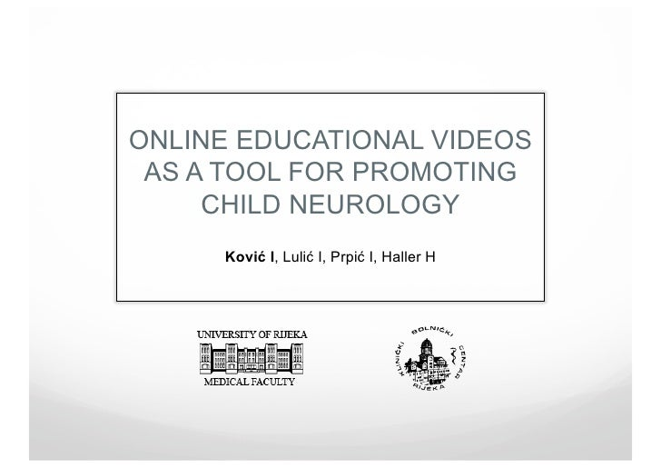 Online educational videos as a tool for promoting child neurology