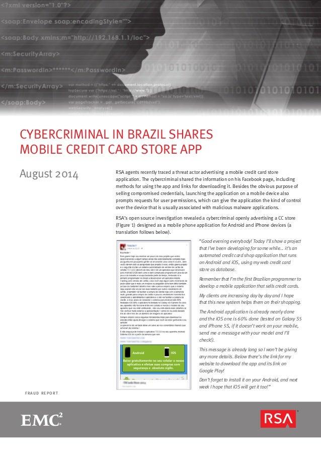 RSA Online Fraud Report - August 2014