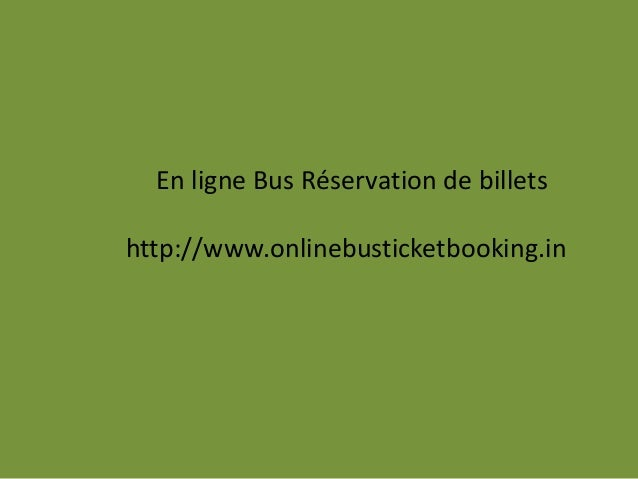 en ligne de réservation de billets d'autobus