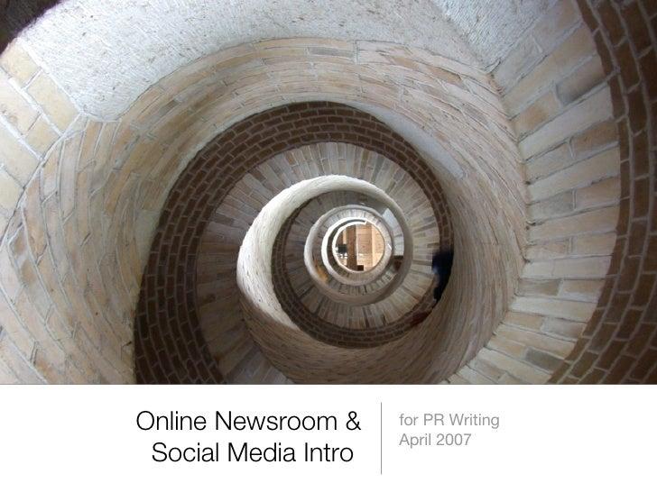 Online Newsrooms & Social Media Primer