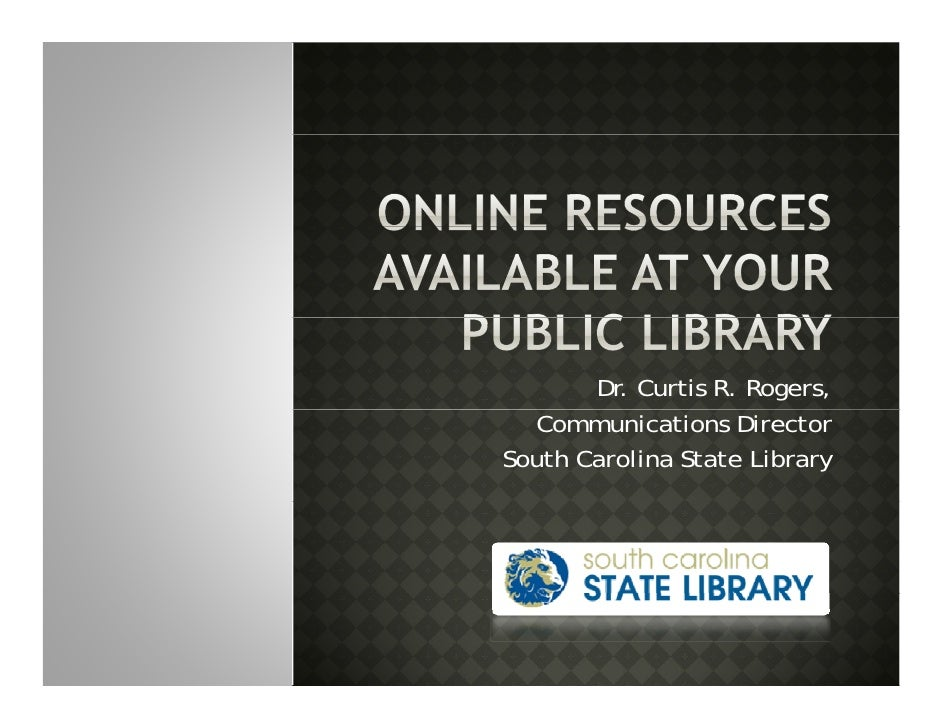 Online Resources Available At Your Public Library