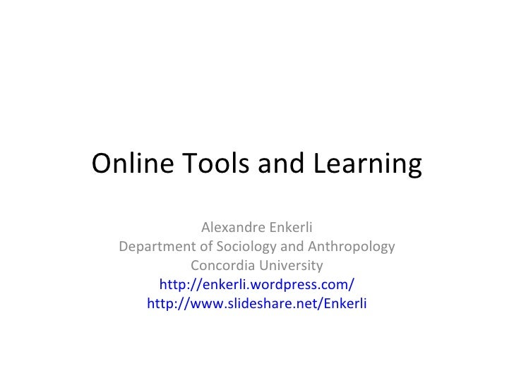 Online Tools and Learning