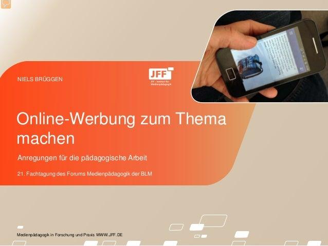 Medienpädagogik in Forschung und Praxis WWW.JFF.DE Anregungen für die pädagogische Arbeit 21. Fachtagung des Forums Medien...