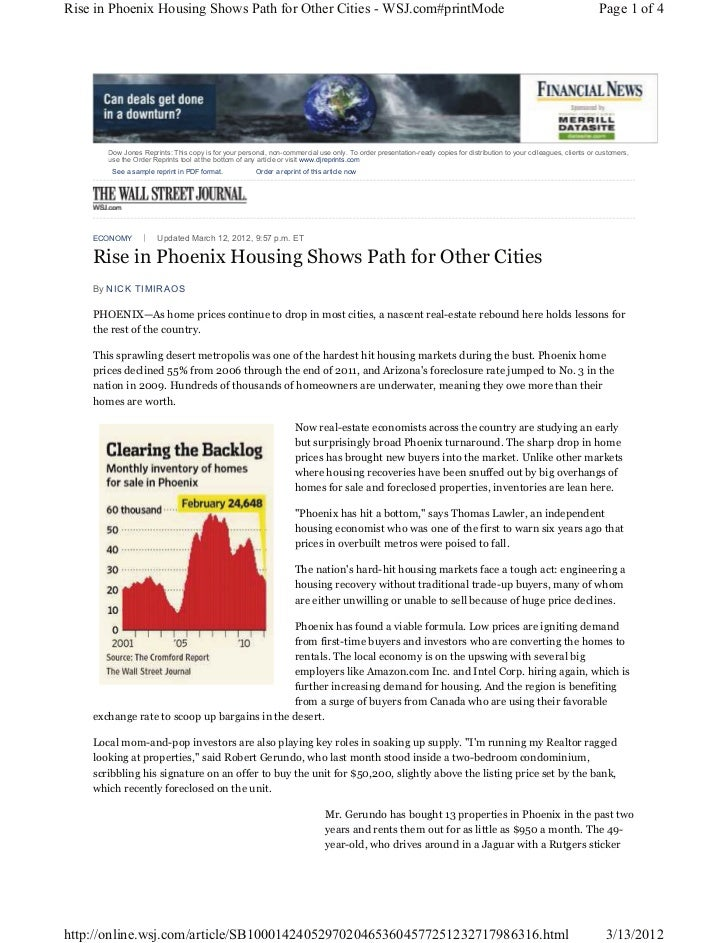 Rise in Phoenix Housing Shows Path for Other Cities - WSJ.com#printMode                                                   ...