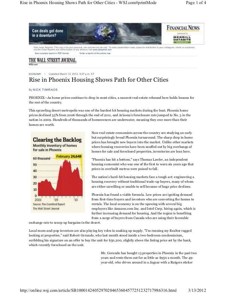 Online.wsj.phoenix housing market 2012