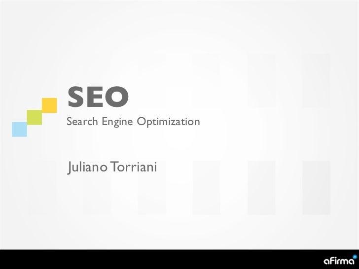 SEOSearch Engine OptimizationJuliano Torriani