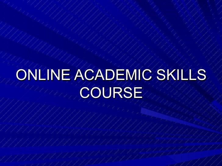 Online academics skills course
