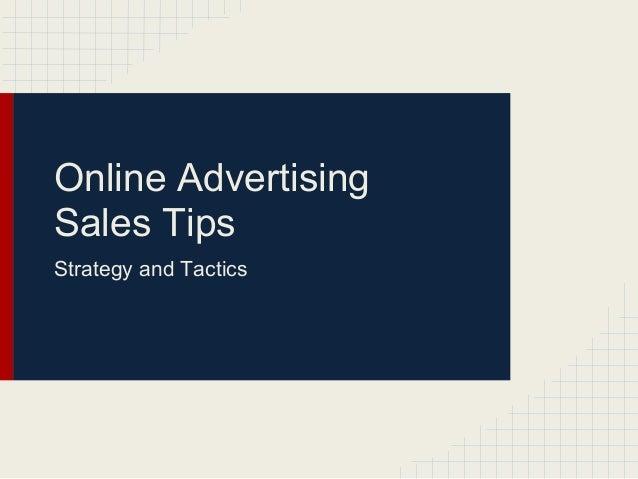 Online ad sales  best practices