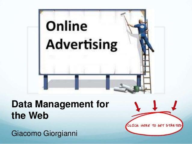 Data Management for the Web Giacomo Giorgianni