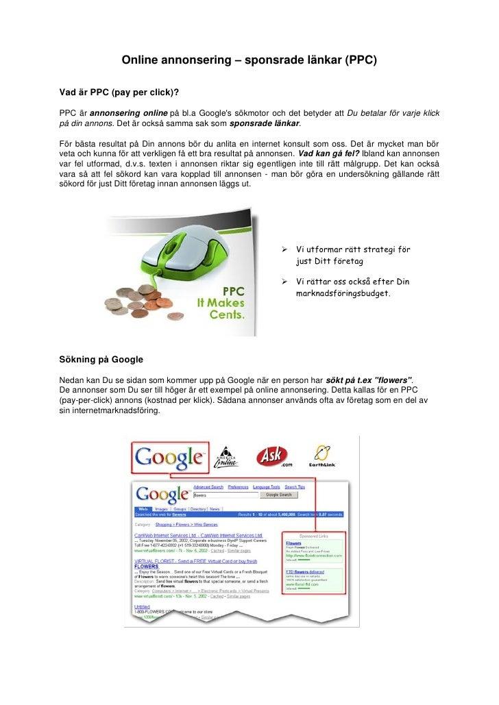 Online annonsering