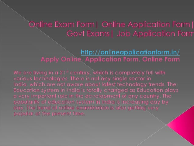Online application form