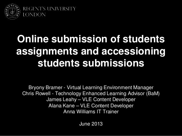 Online assessment   june 2013 - v3