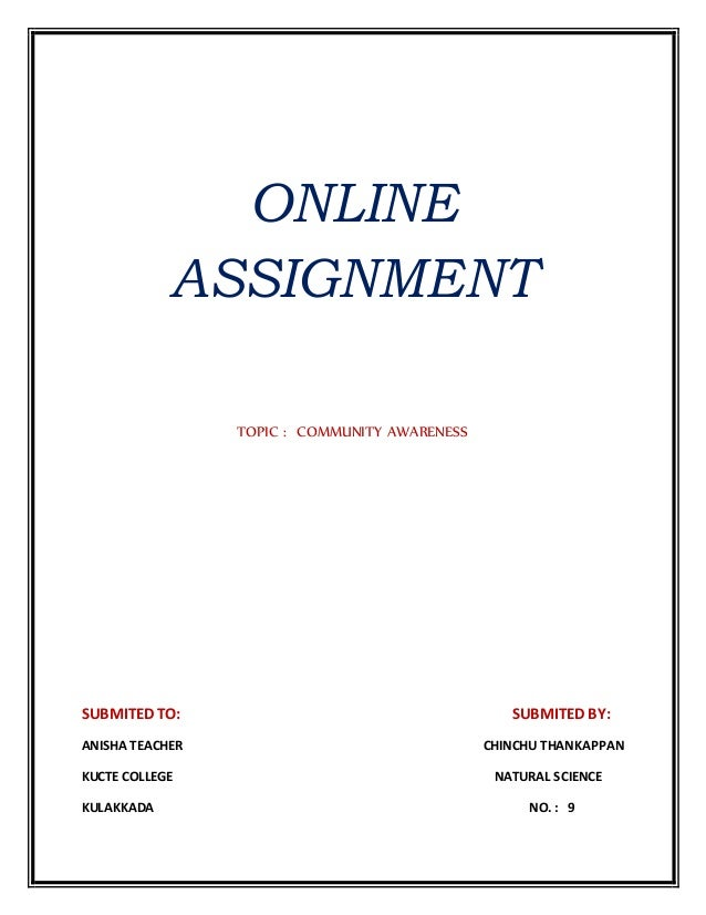 Online assignments