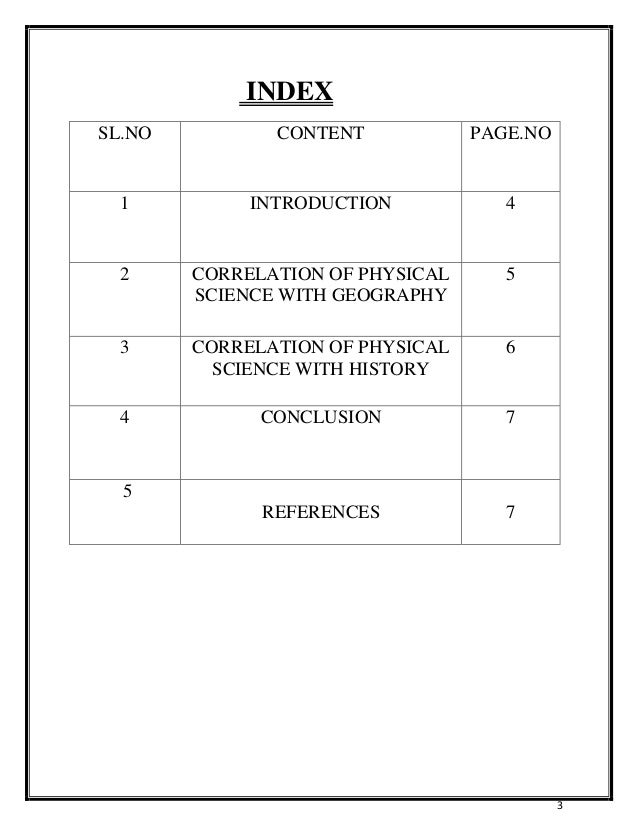 assignment index page