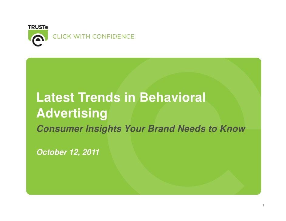 Online Behavioral Advertising From Trus Te