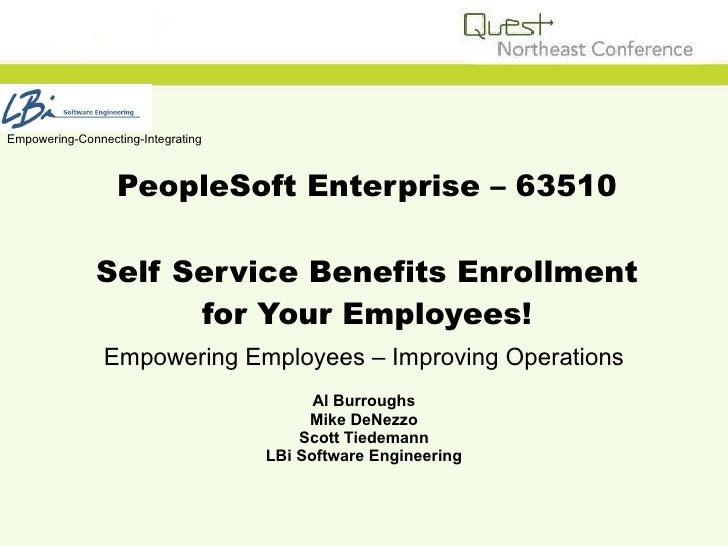 Self Service Benefits Enrollment