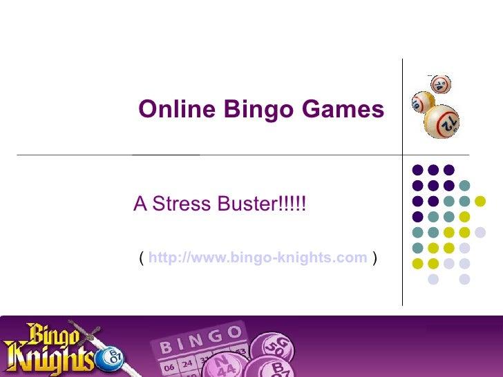 Online Bingo Games - A Stress Buster
