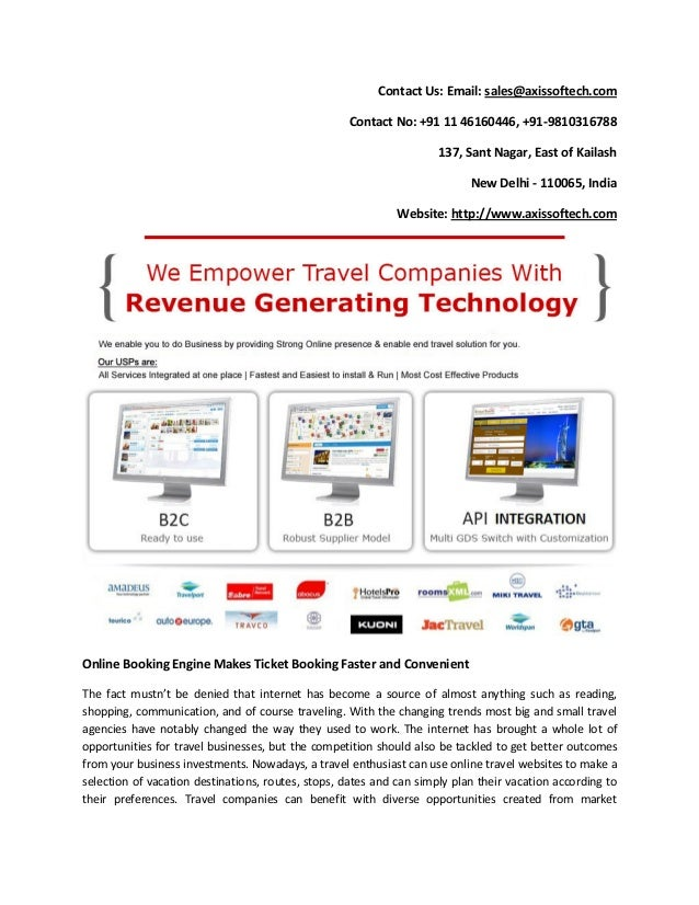 Online Booking Engine Makes Ticket Booking Faster and Convenient
