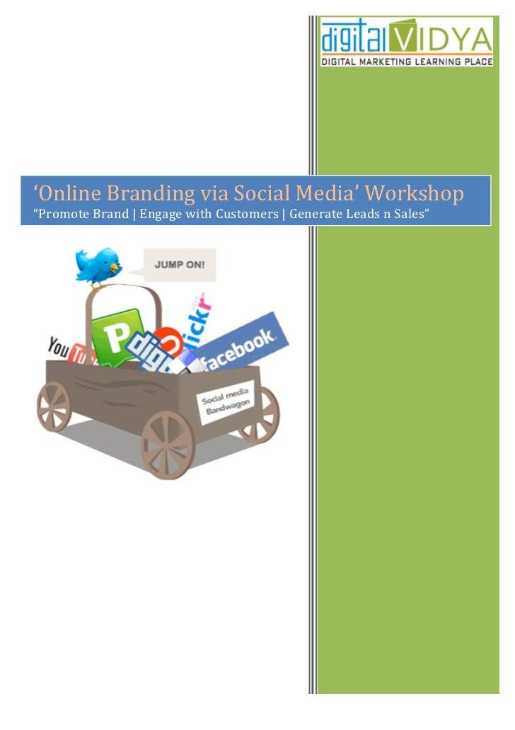 'Online Branding via Social Media' Bootcamp