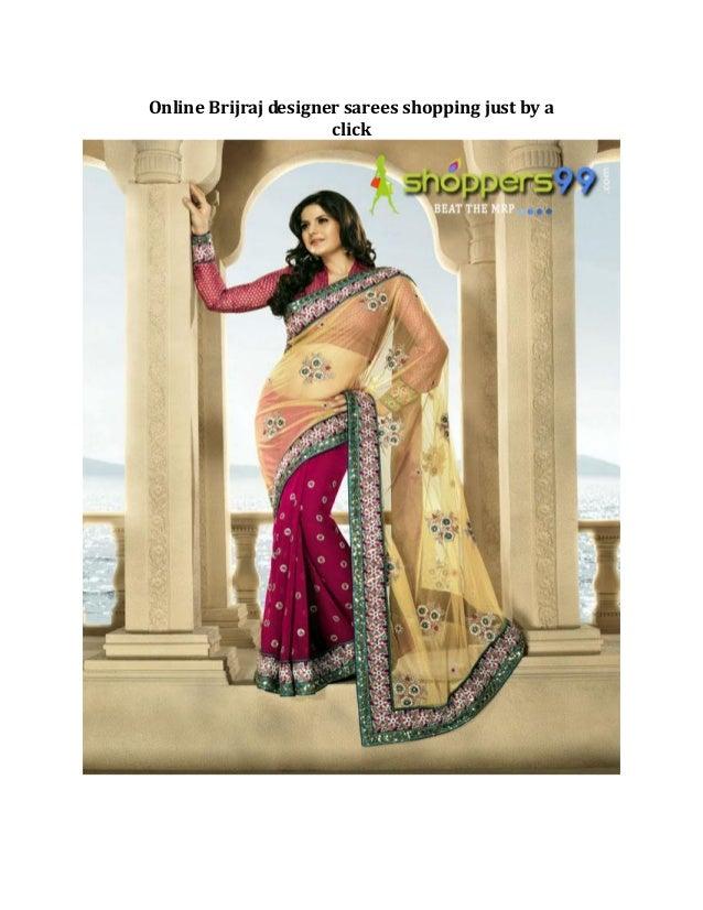Online Brijraj designer sarees shopping just by a                      click
