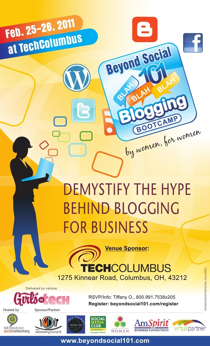 Blah Blah Blogging Bootcamp for Business - CONFERENCE PROGAM