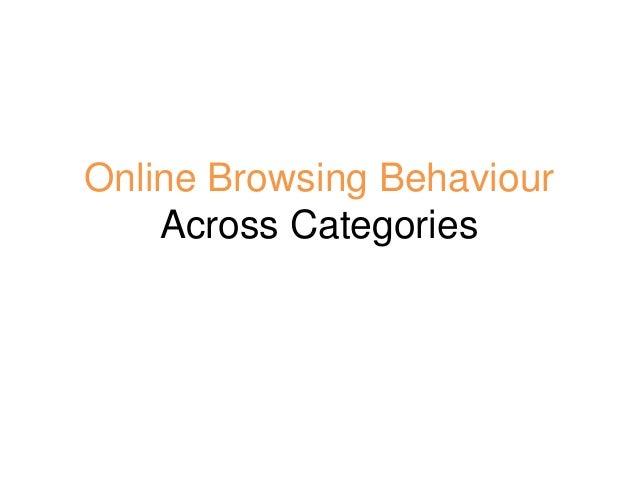 4 Online browsing behaviour across categories