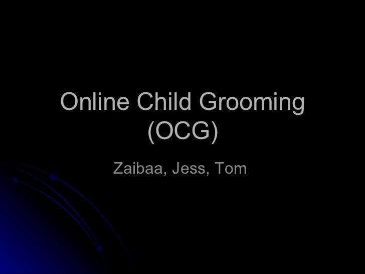 Online child grooming... =(