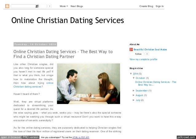 Christian single dating services