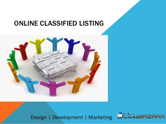 ONLINE CLASSIFIED LISTING Design | Development | Marketing