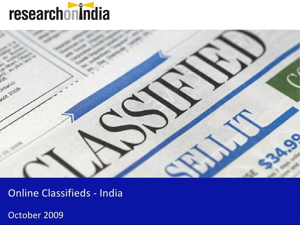 Online Classifieds - India October 2009