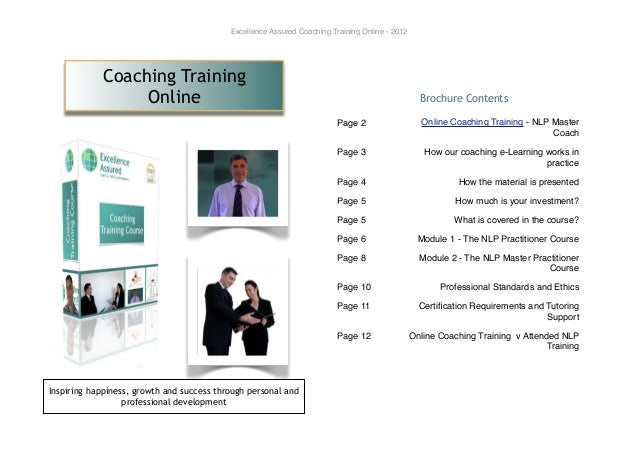Excellence Assured Coaching Training Online - 2012            Coaching Training                 Online                    ...