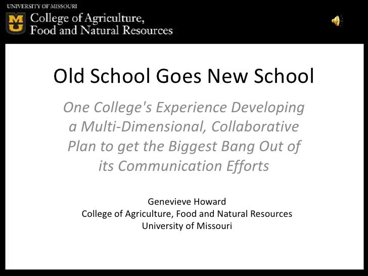 Old School Goes New School One College's Experience Developing  a Multi-Dimensional, Collaborative Plan to get the Biggest...