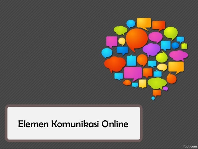 Online communication elements