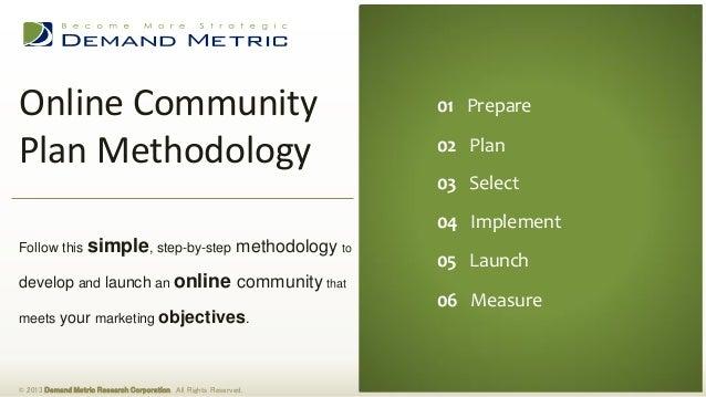 Online Community Plan Methodology