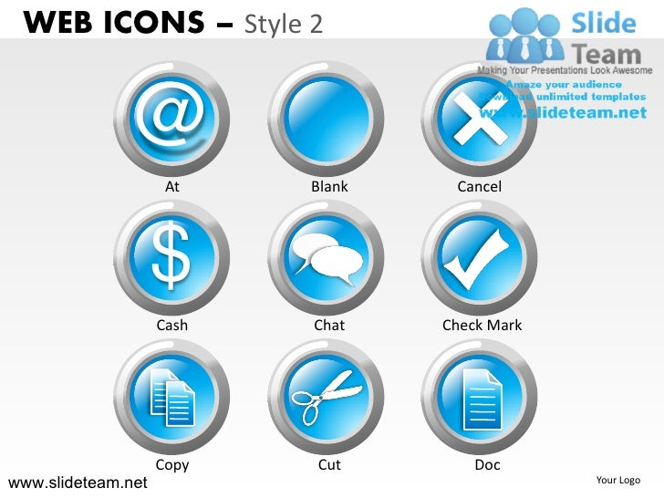 Online connected chat web icons design 2 powerpoint ppt templates.