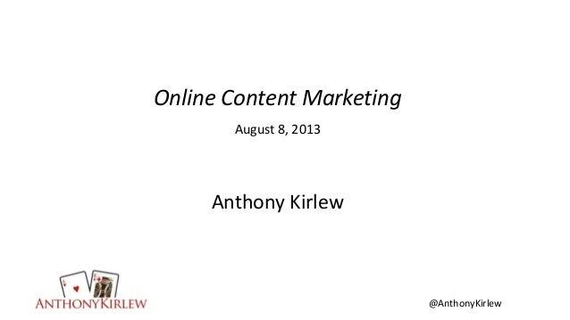 Online Content Marketing - American Markteing Association Phoenix