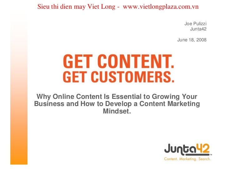 Online content marketing presentation from joe pulizzi for web content 2008 chicago