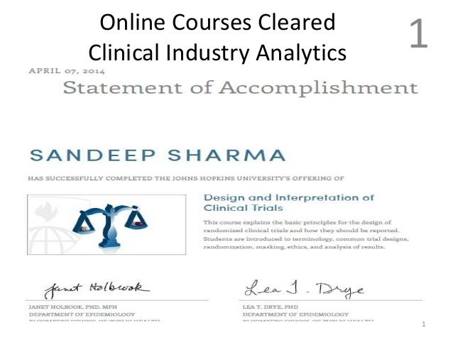 Online Courses Cleared Clinical Industry Analytics 1 1